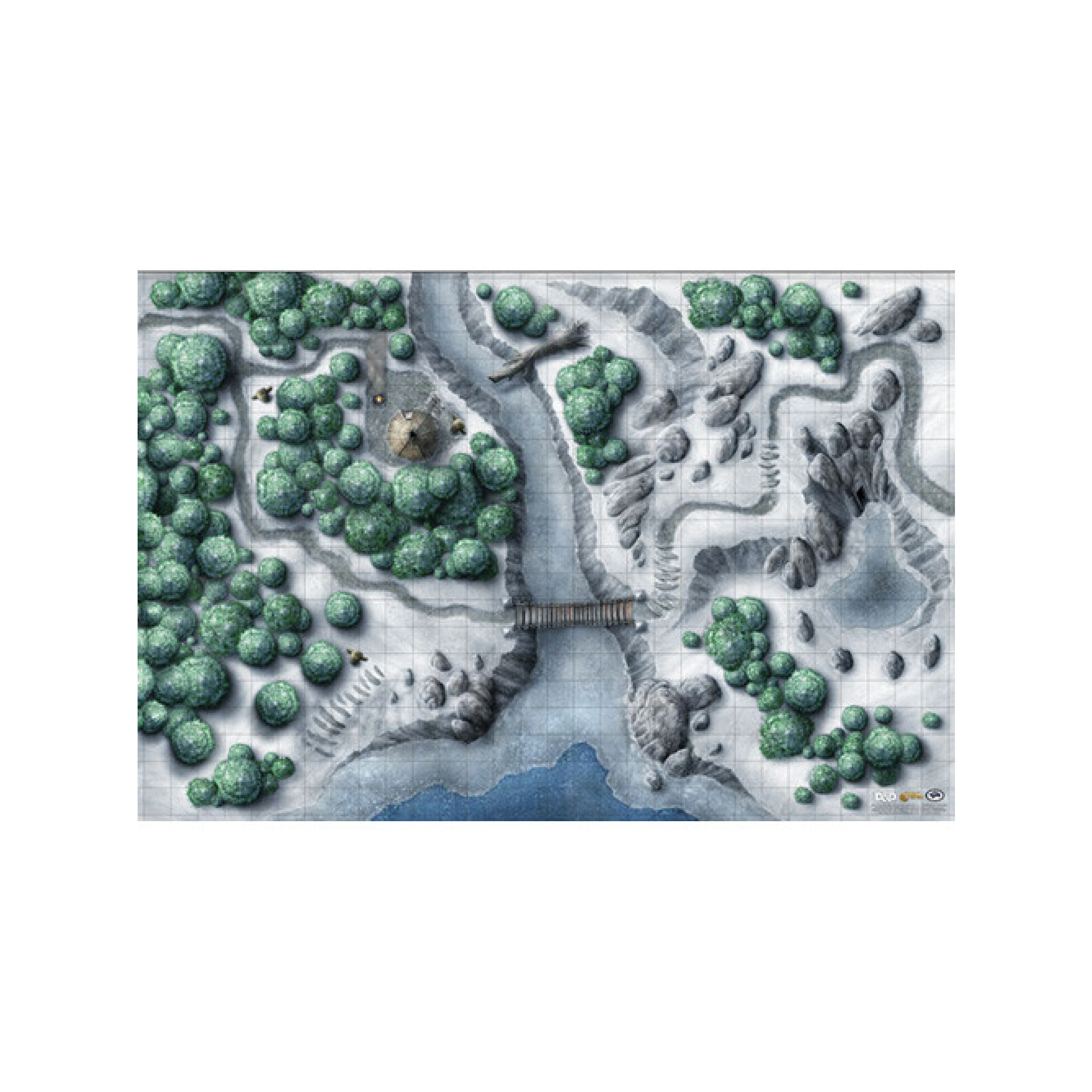 Gale Force Nine D&D Dungeons & Dragons: Icewind Dale Encounter Map Set (2pc 20 X 30 In)