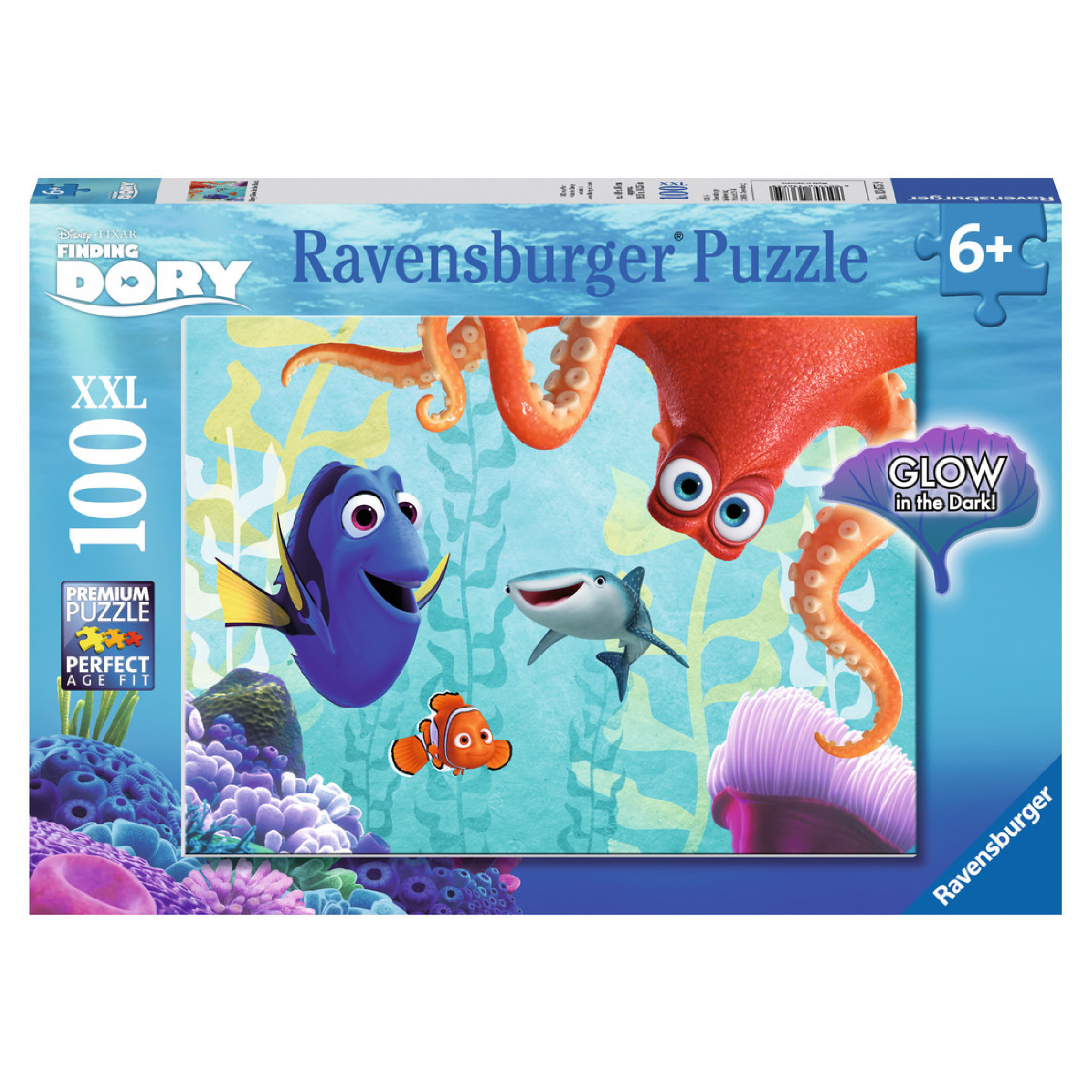 Ravensburger Puzzle 100 XXL: Dory, Glow in the Dark