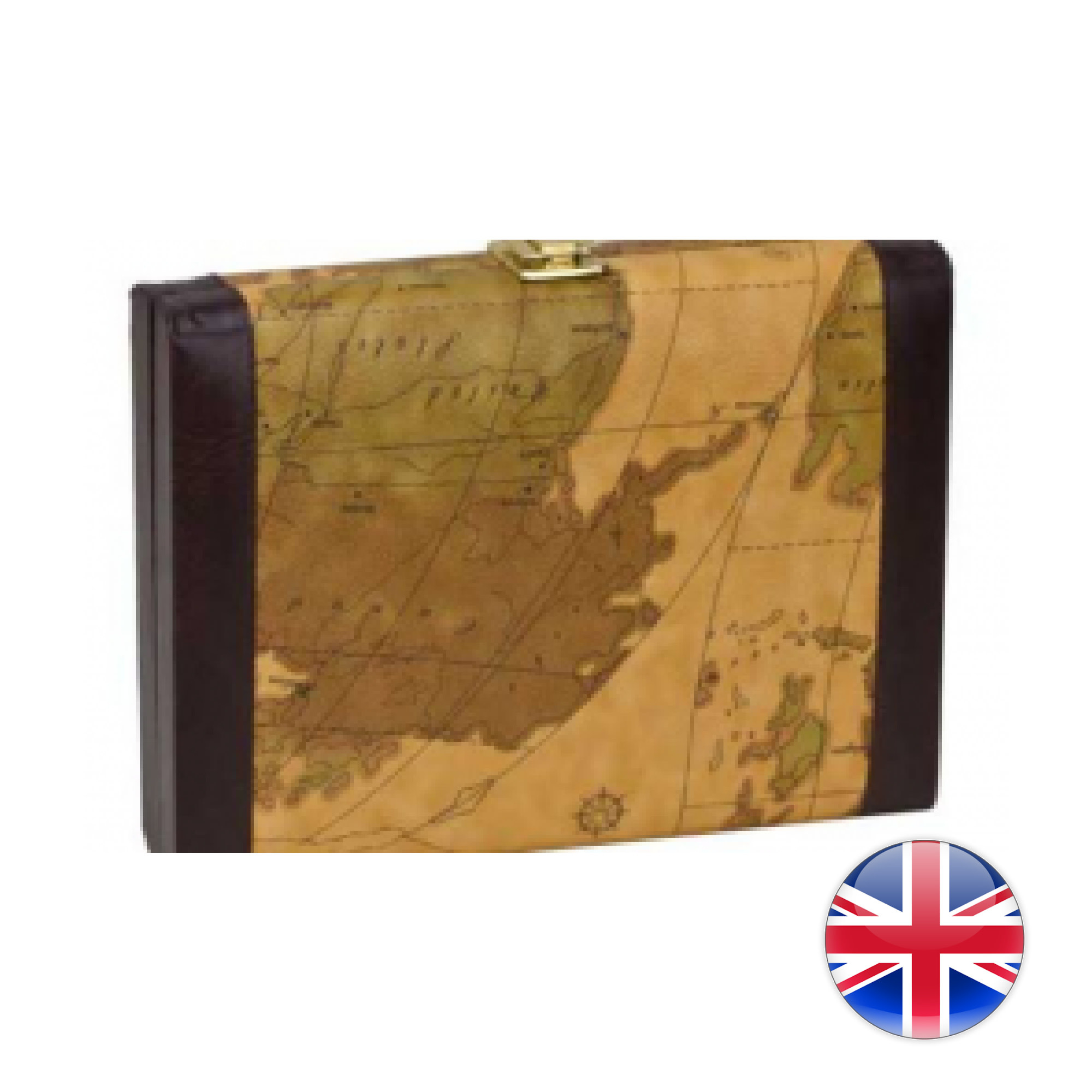 CHH Games Backgammon 9'' Vinyl Case ( with OLD MAP design )