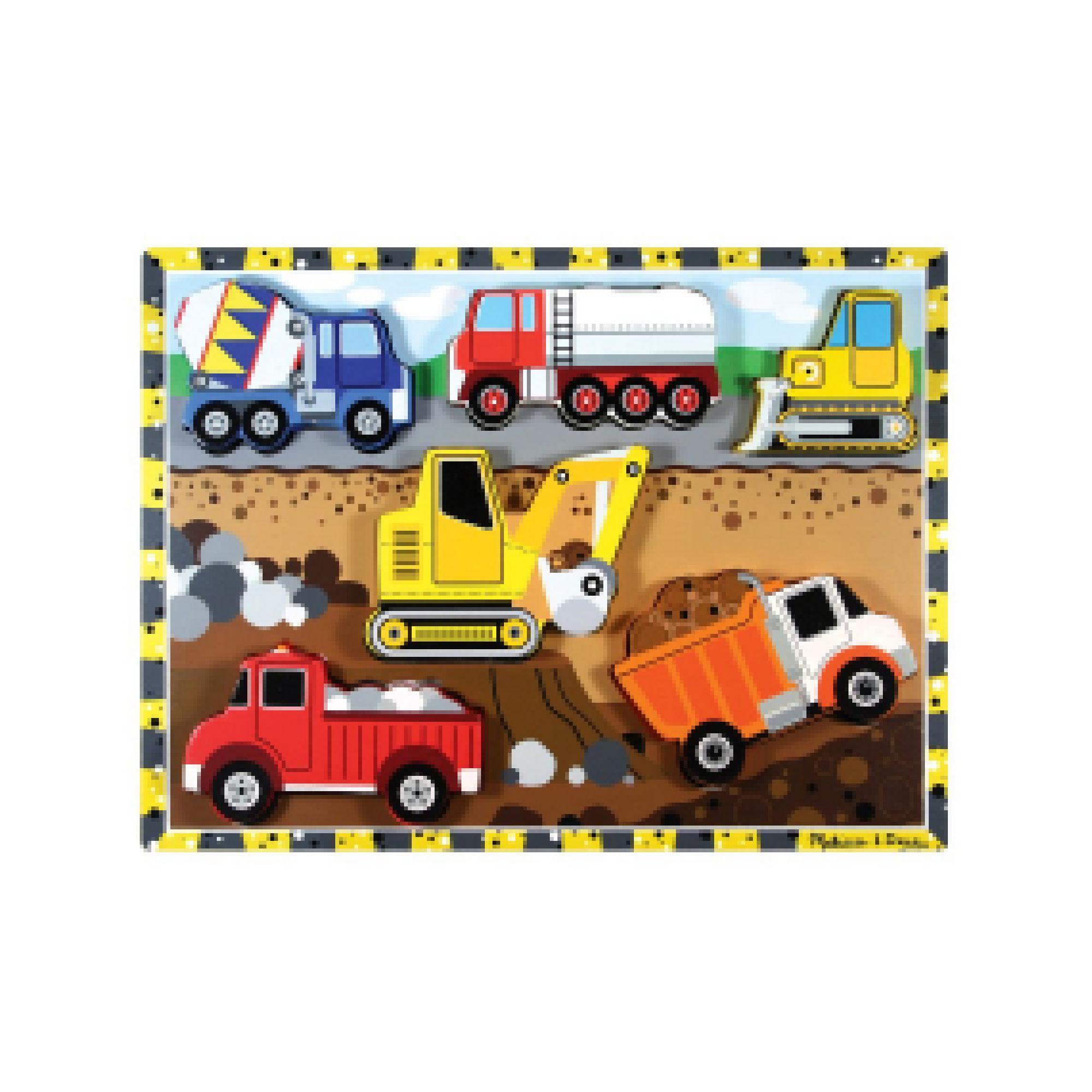 Melissa & Doug Construction Peg Puzzle
