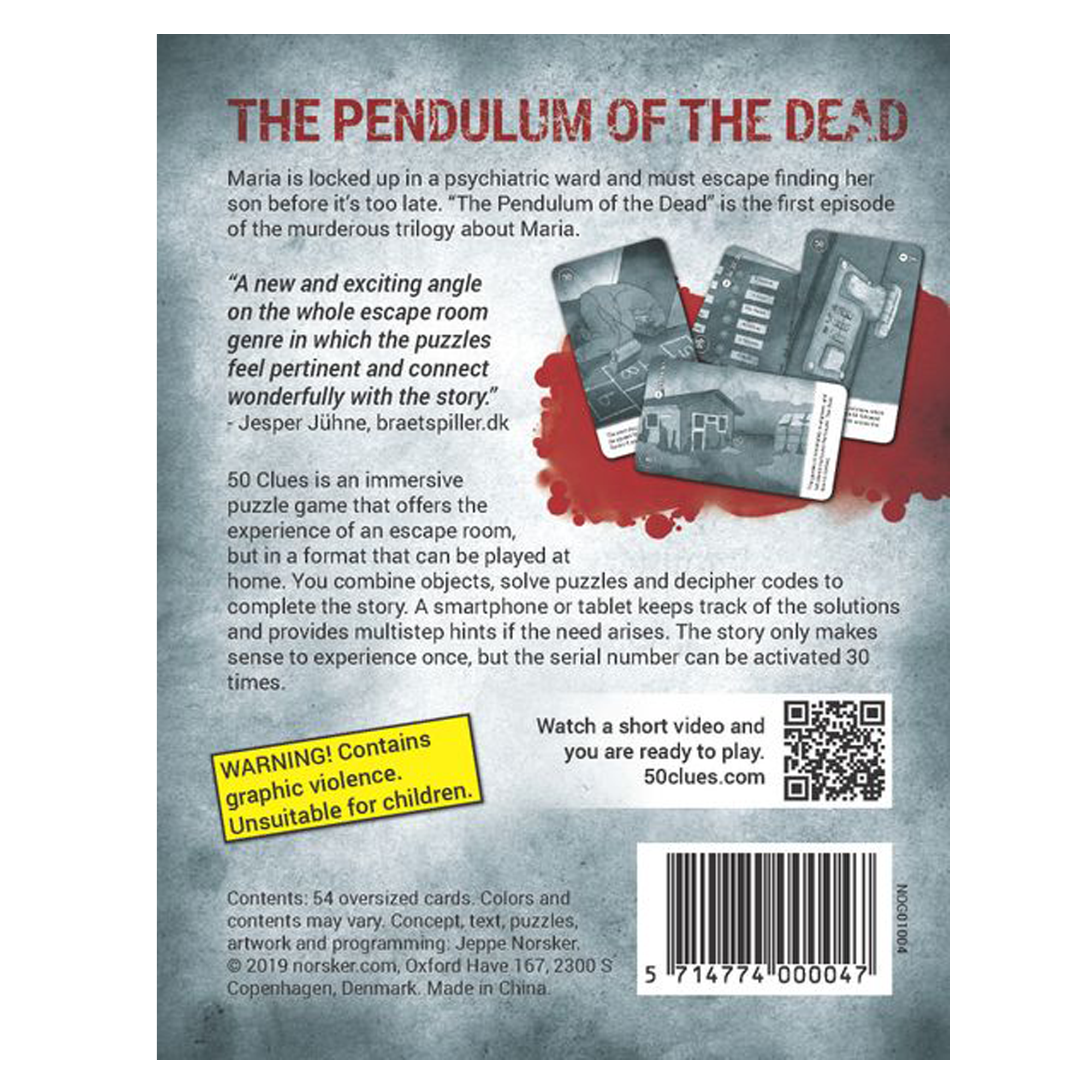 Norsker Games 50 Clues - The Pendulum of the Dead
