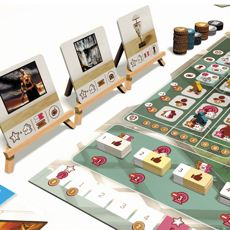 Eagle-Gryphon Games The Gallerist with Scoring Expansion and Scoring Pad VF