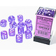 Chessex Borealis: 12D6 Purple/White Luminary