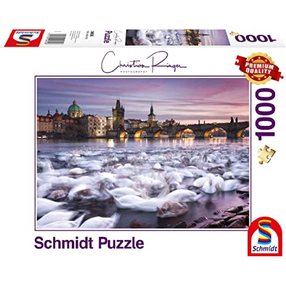 Schmidt Puzzle 1000: Prague - Swans