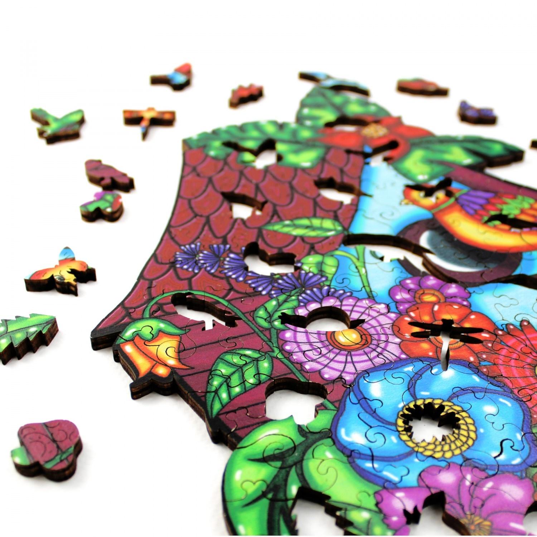 JaCaRou Puzzle en bois:  Birdie