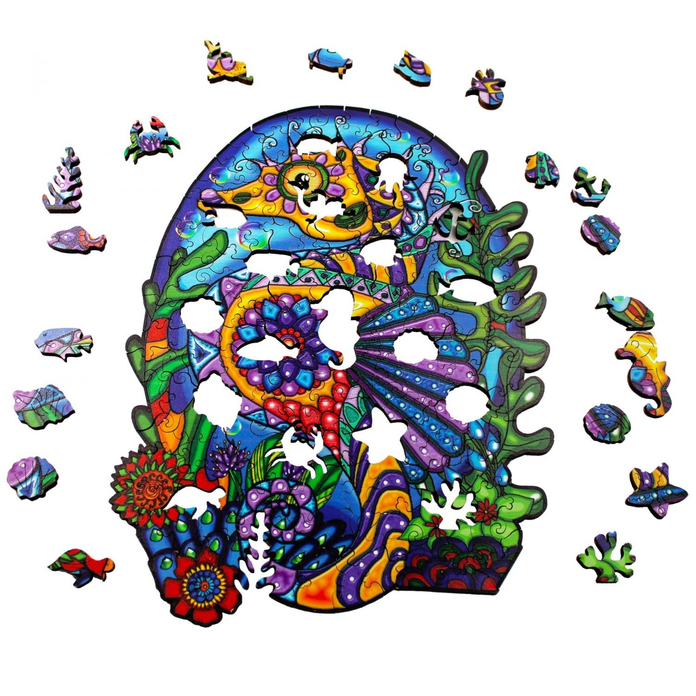 JaCaRou Puzzle en bois: Hippocampus
