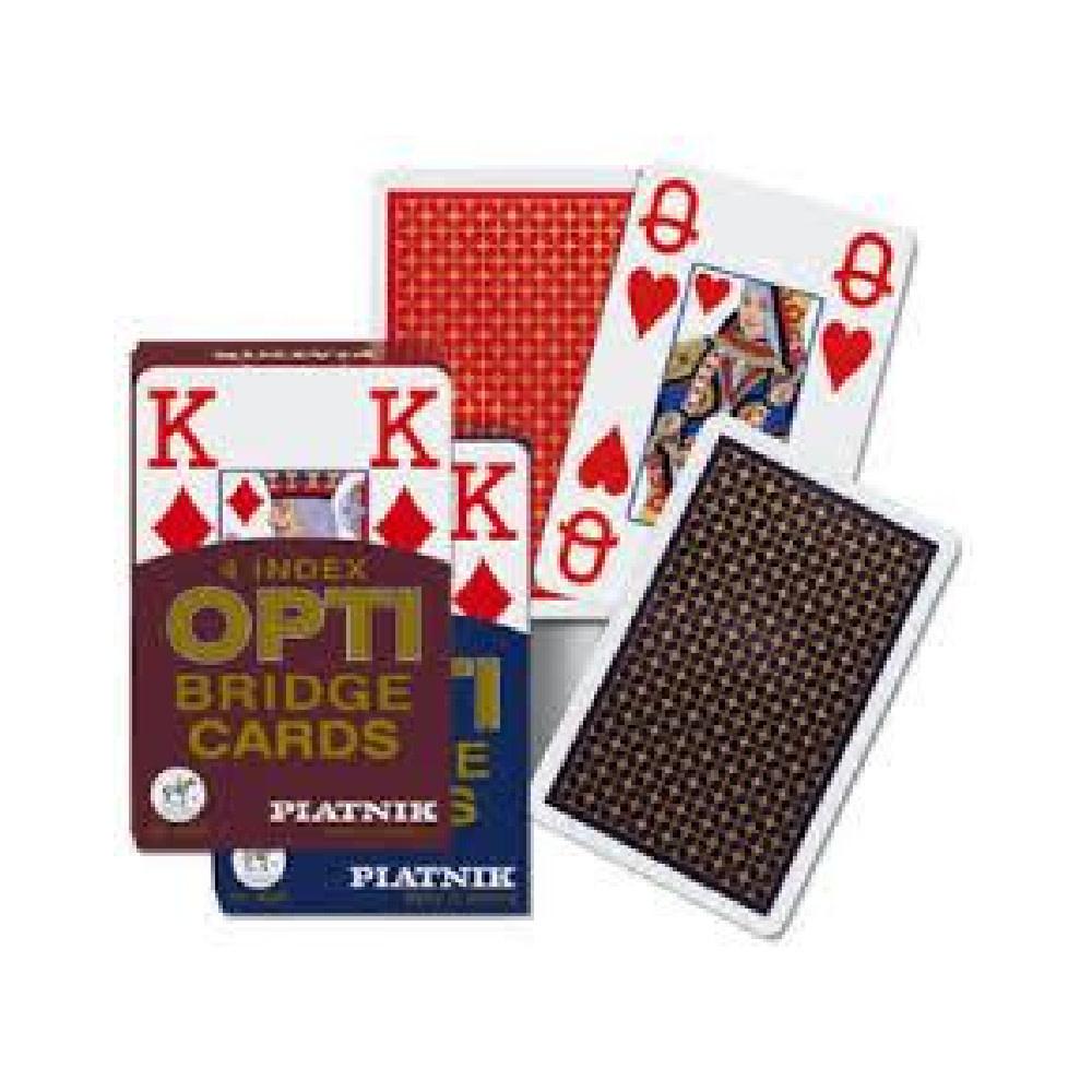 Piatnik Cartes à jouer Bridge - Opti 4 Index