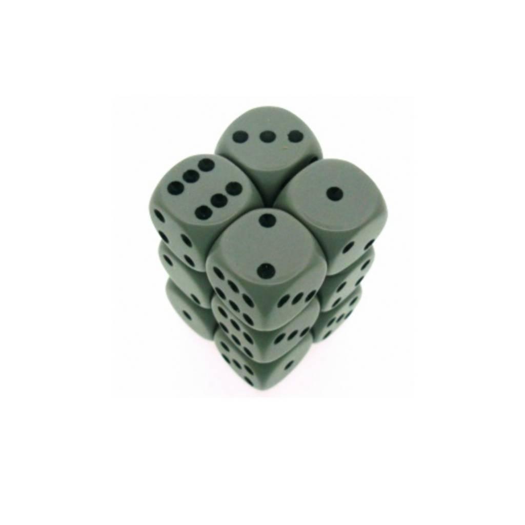 Chessex Dés Opaque: 12D6 Gris Foncé / Noir
