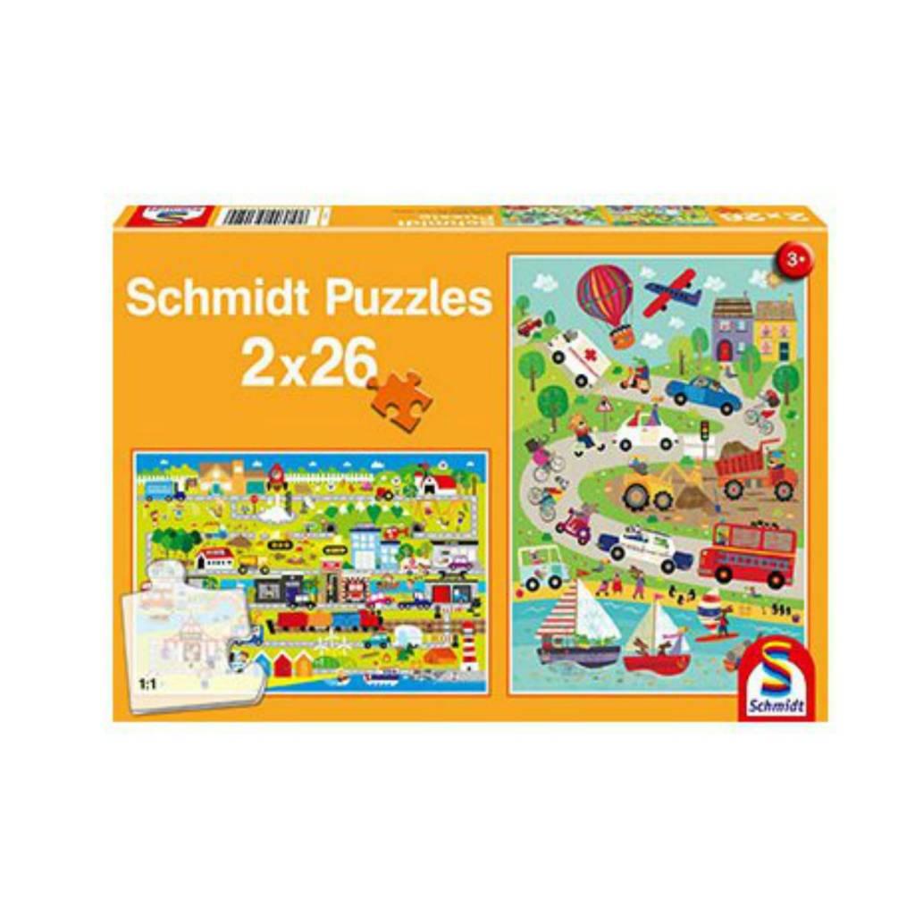 Schmidt Puzzle: Child 2X26 Colourful World