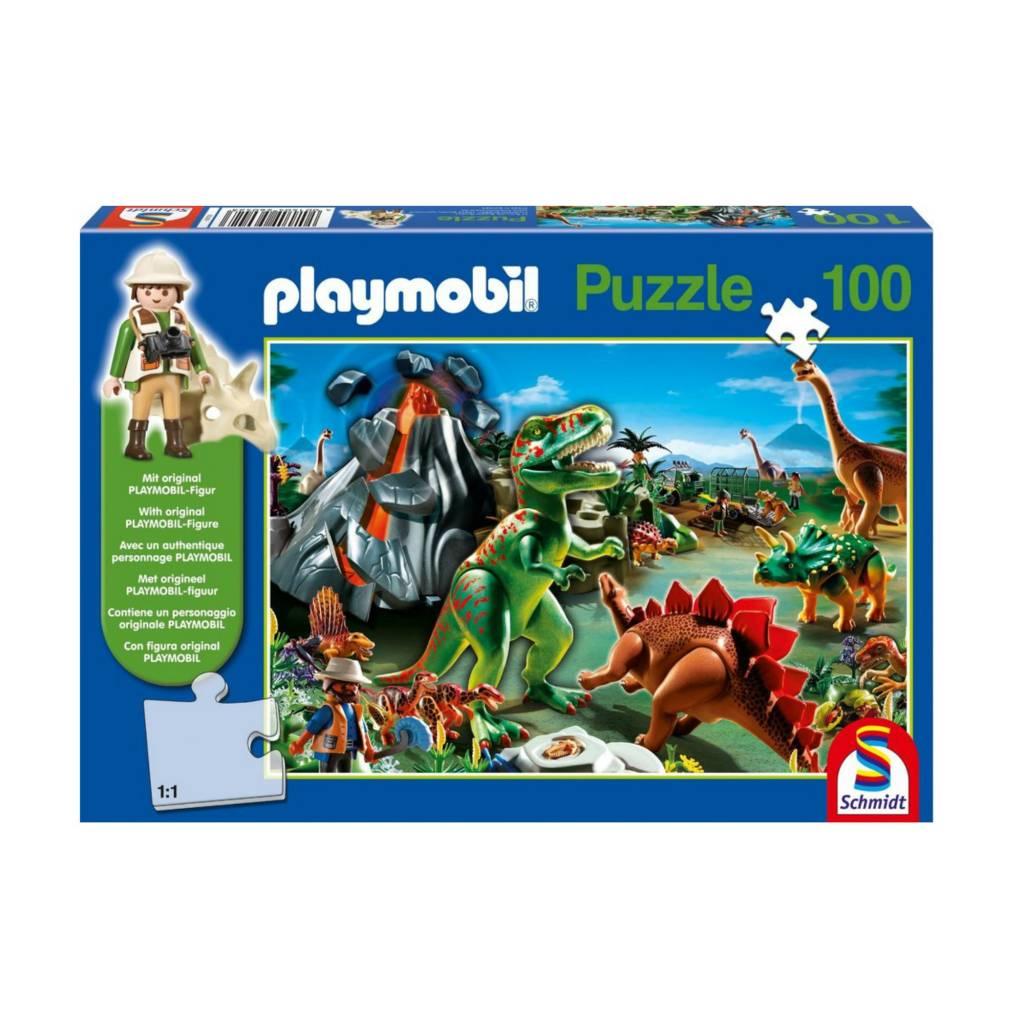 Schmidt Puzzle 100: Playmobil in Dino Country Schmidt
