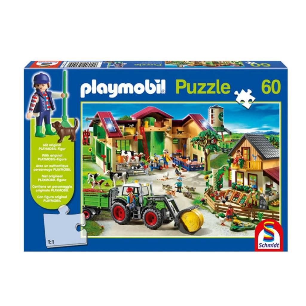 Schmidt Puzzle: 60 Playmobil On The Farm