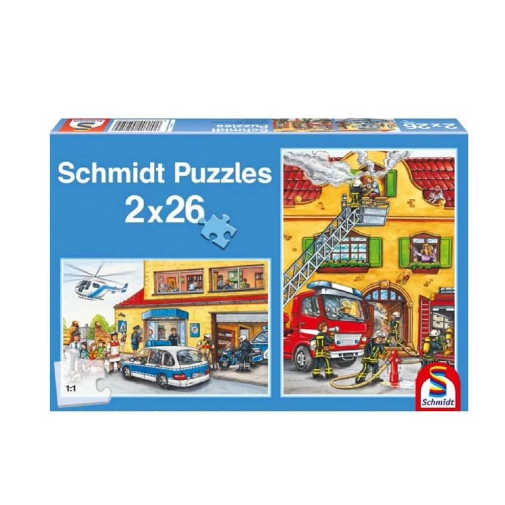 Schmidt Puzzle 2X26: Fire Brigade Police Schmidt