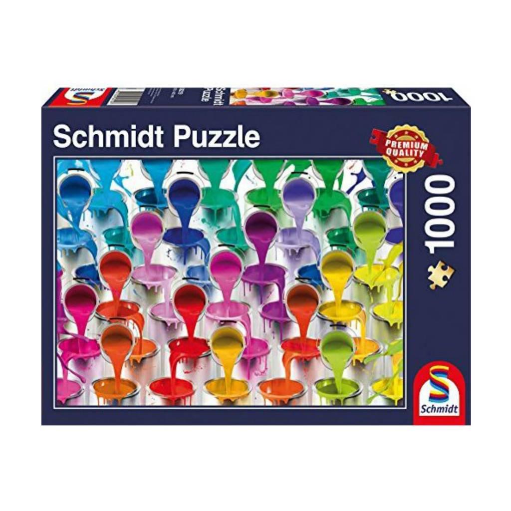 Schmidt Puzzle 1000: Paint Bucket Waterfall Schmidt