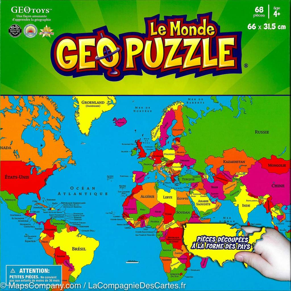 GeoToys Le Monde Geo Puzzle