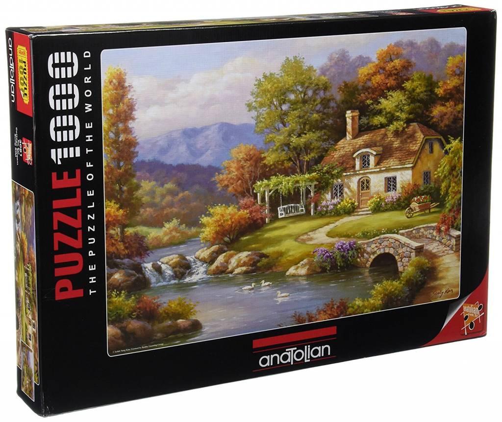 Anatolian Puzzle 1000:  Cottage Stream Anatolian