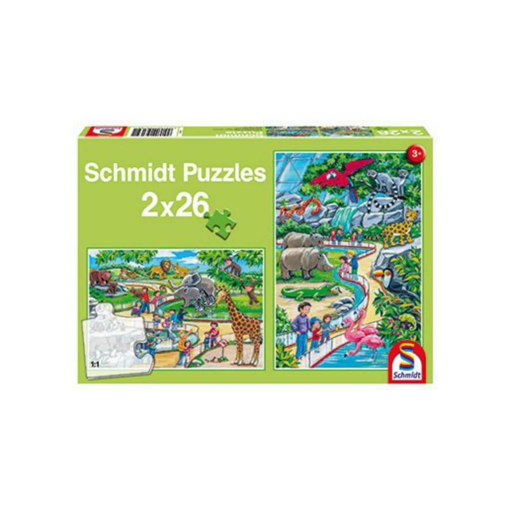Schmidt Puzzle 2X26: Day At The Zoo Schmidt