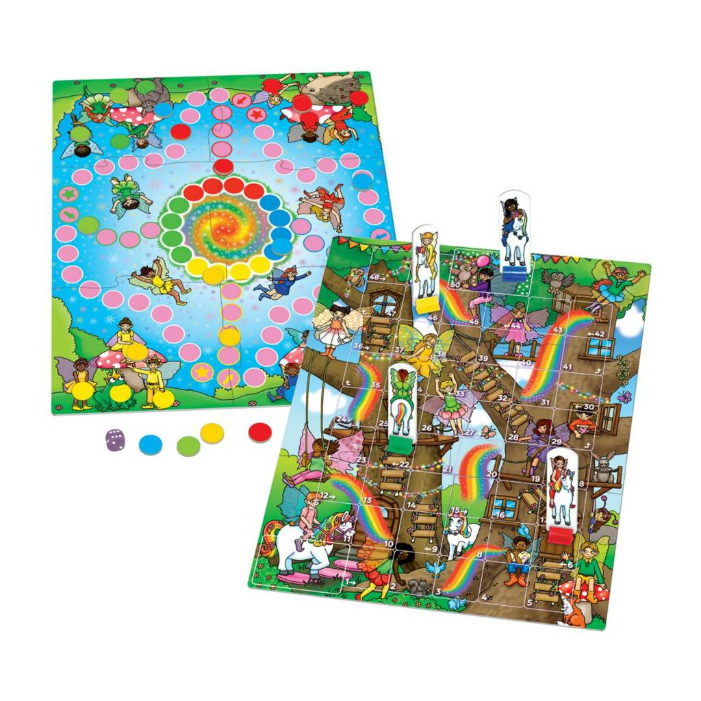 Orchard Toys Fairy Snakes and Ladders and Ludo Multi