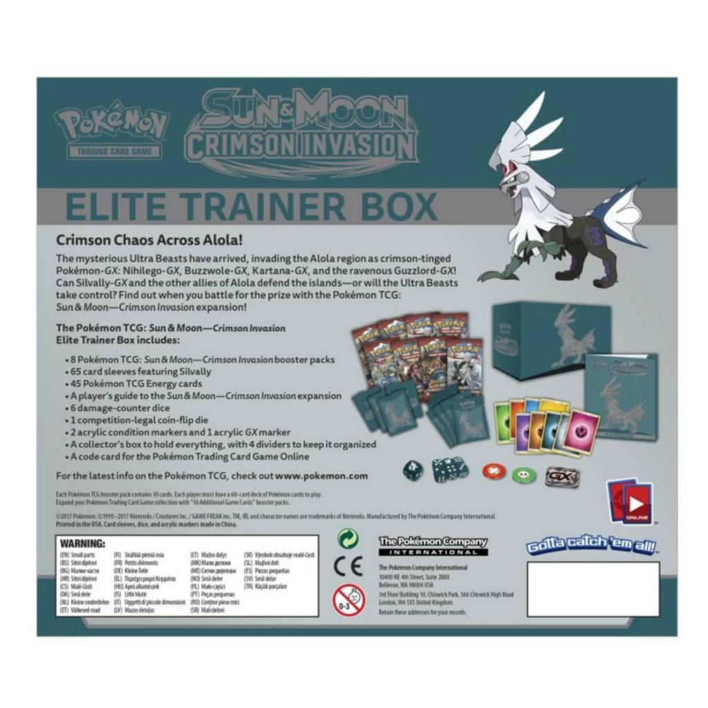 Pokemon Company Pokémon SM4 Crimson Invasion Elite Trainer Box