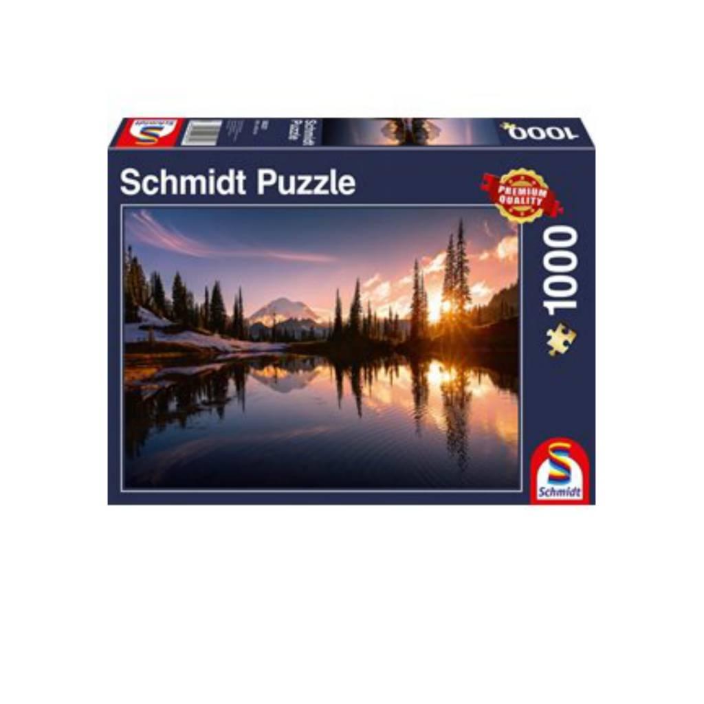 Schmidt Puzzle 1000: Mountain Scene Schmidt