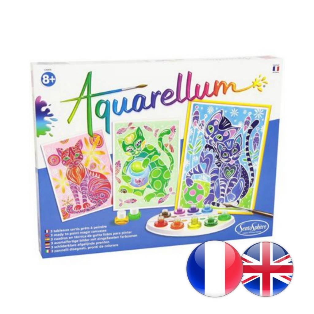 SentoSphere Aquarellum: Magic Canvas Large Cats (multi)