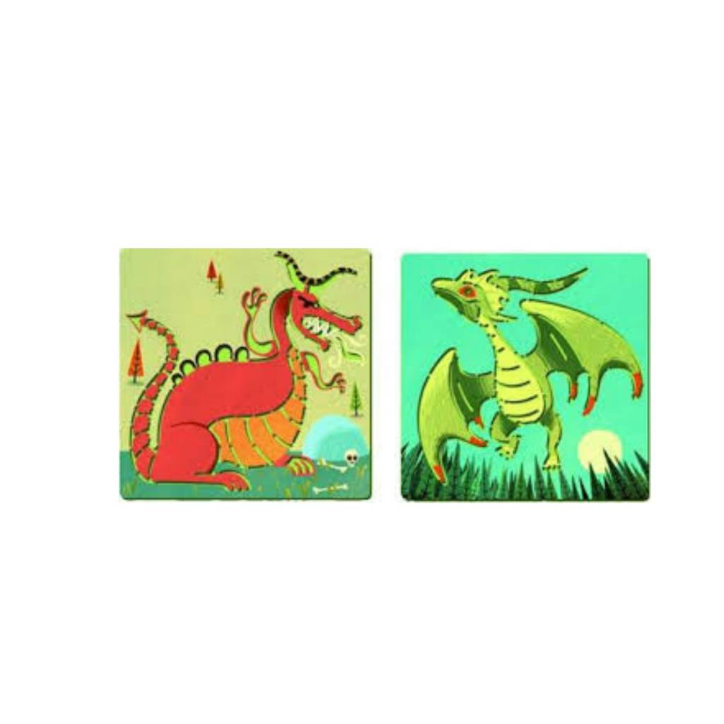 Djeco Pochoirs - Dragons