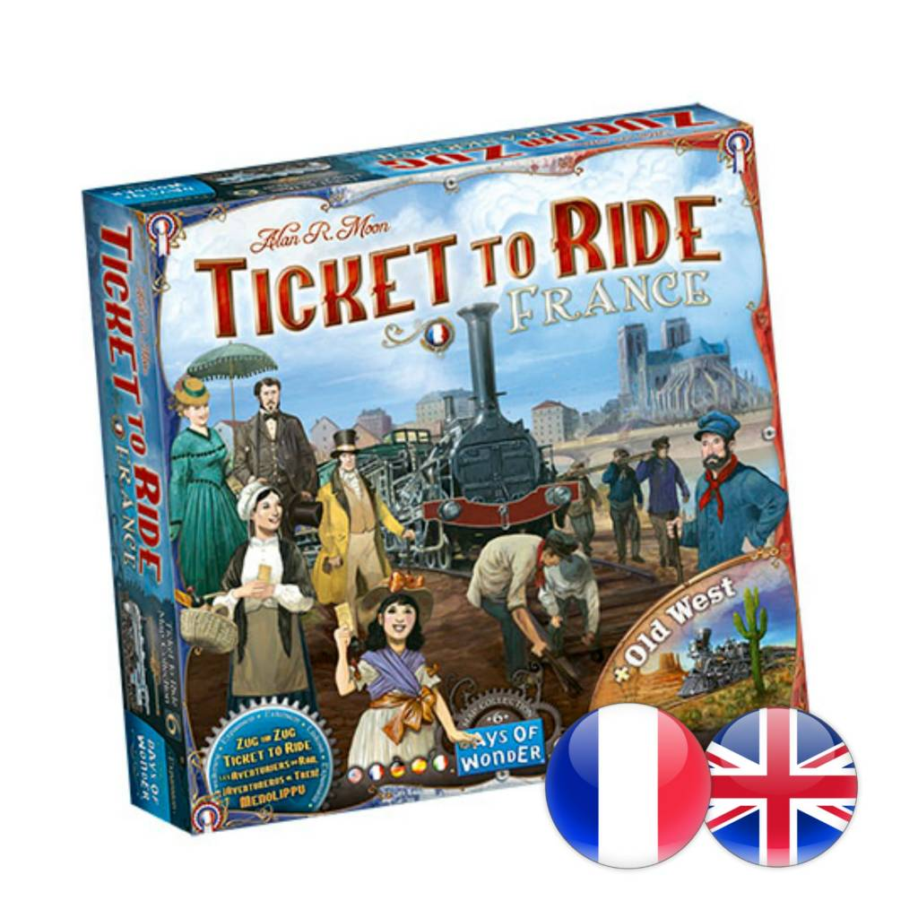 Days of Wonder Ticket to Ride: Map #6 - France / Old West Map (multi)