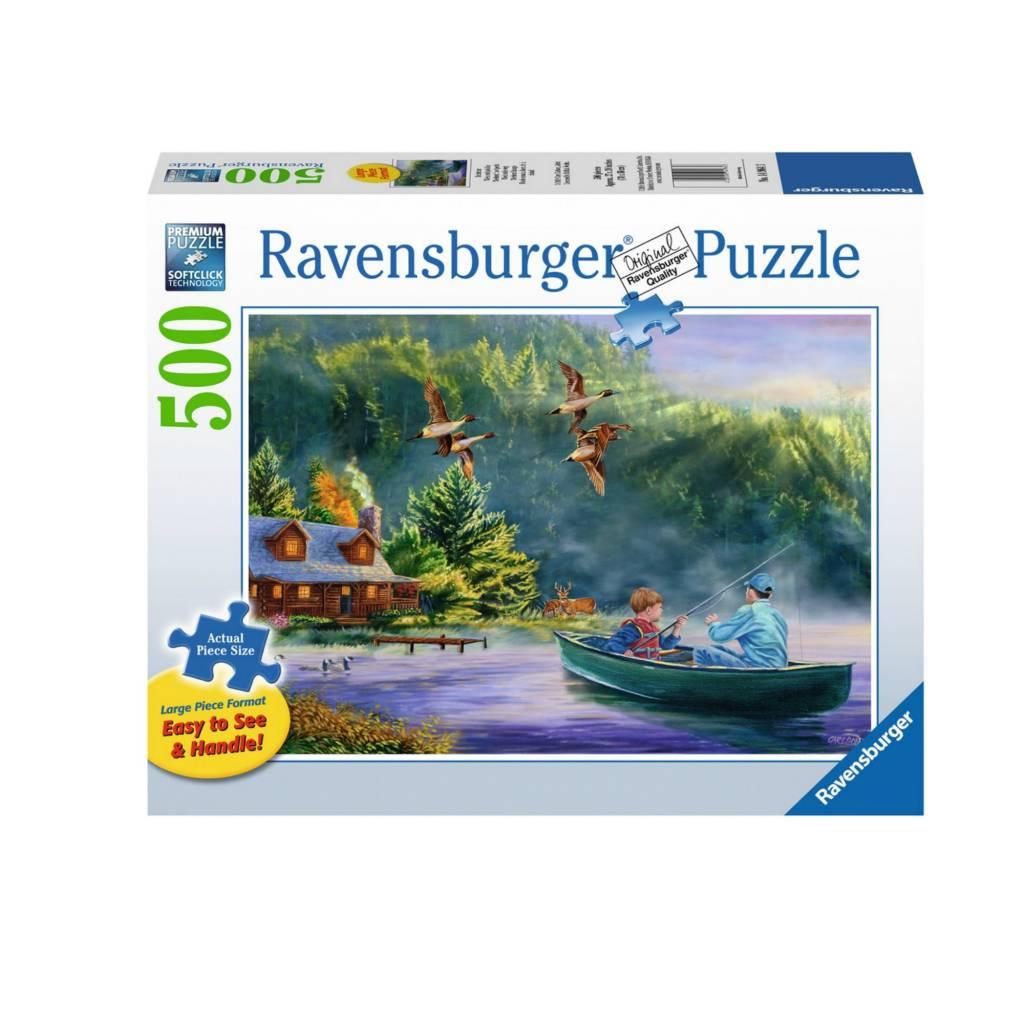 Ravensburger Puzzle 500: La leçon de pêche / Grand format