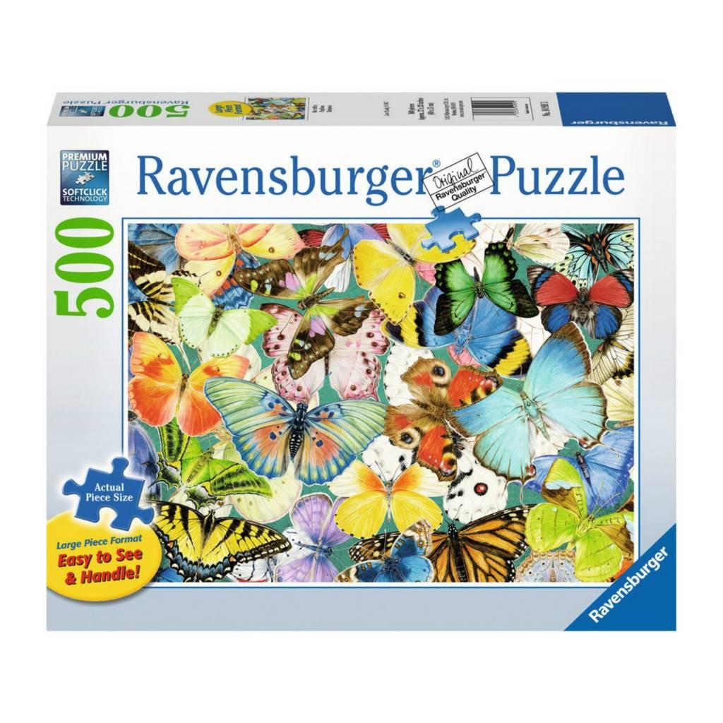 Ravensburger Puzzle 500: Papillons / Grand format