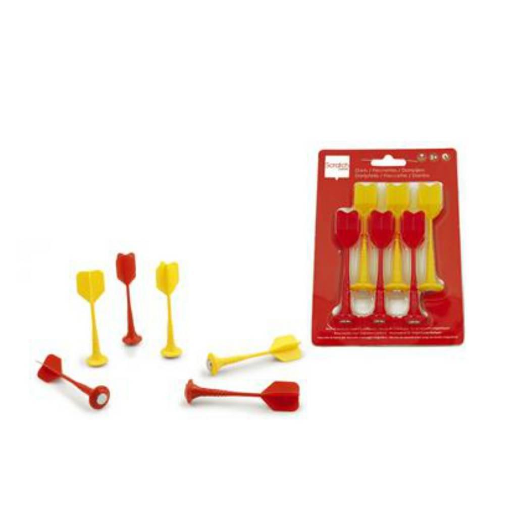 Scratch Dards magnétiques 6 pièces rouge & jaune