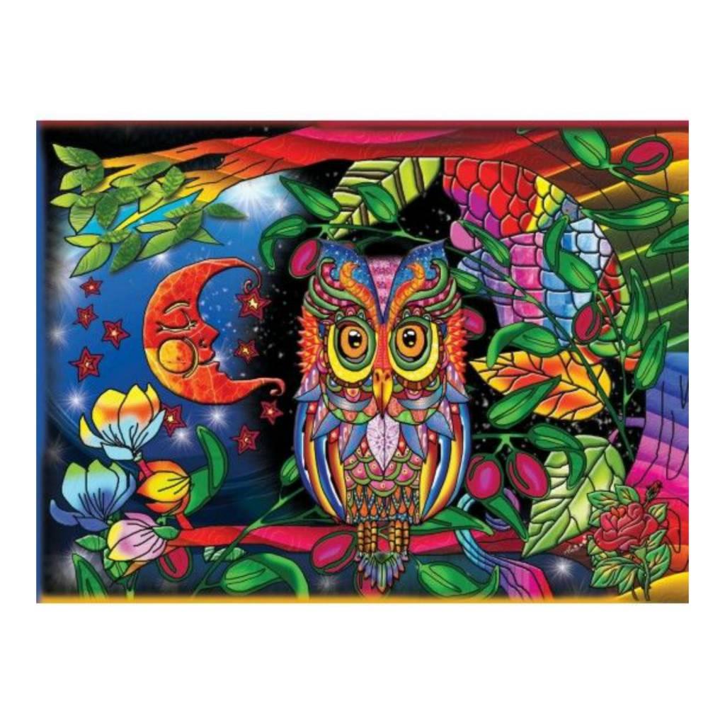 JaCaRou Puzzle 1000: Un hibou la nuit