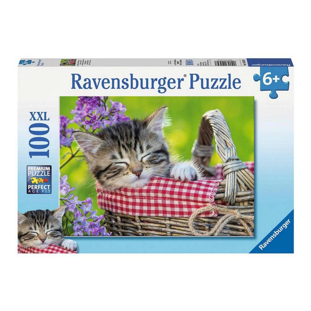 Ravensburger Puzzle 100: Chaton endormi