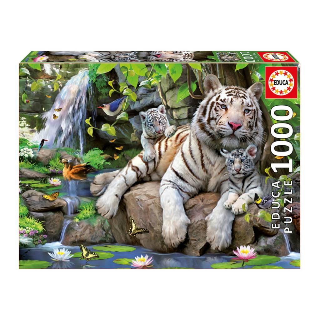 Educa Puzzle 1000: Tigres de Bengale