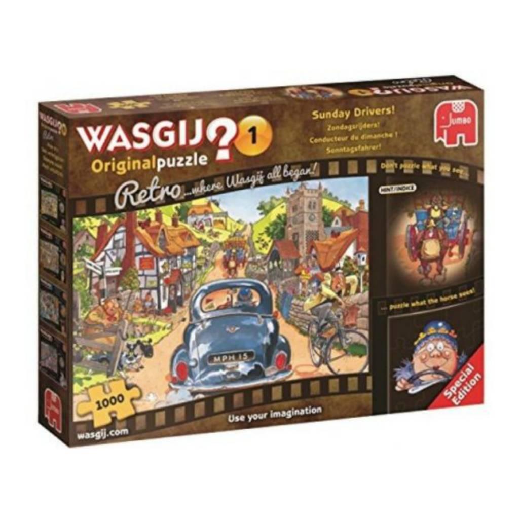 Wasgij Puzzle 1000: Wasgij Original #1 Retro, Sunday Drivers