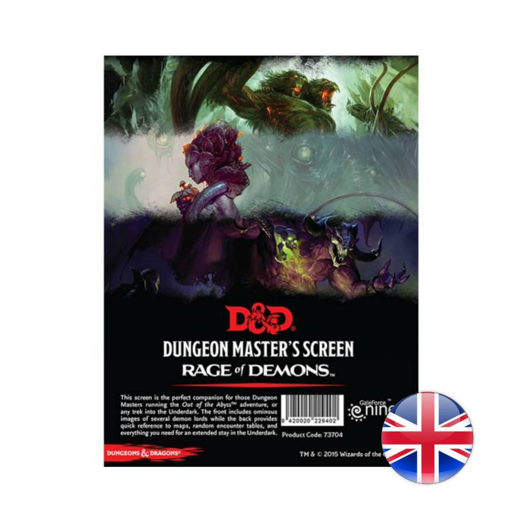 Wizards of the Coast D&D Dungeons & Dragons: Rage of Demons: DM Screen
