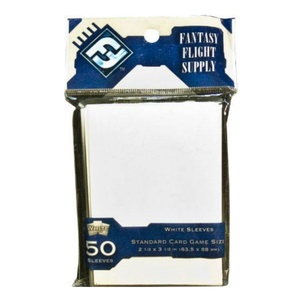 Fantasy Flight Games FFG Standard Card Game Sleeves - White 63.5x88 (50)
