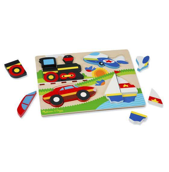 Melissa & Doug Chunky Jigsaw Puzzle - Vehicles