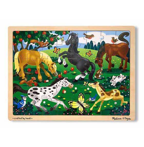 Melissa & Doug Puzzle 48: Frolicking Horses