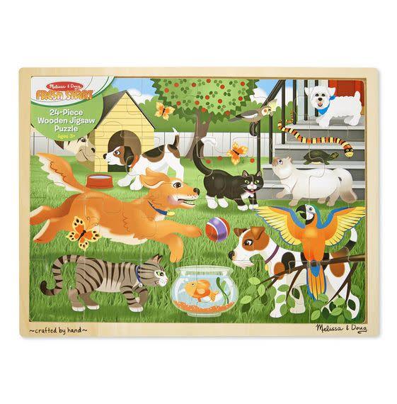 Melissa & Doug Puzzle 24: Pets Casse-tête bois