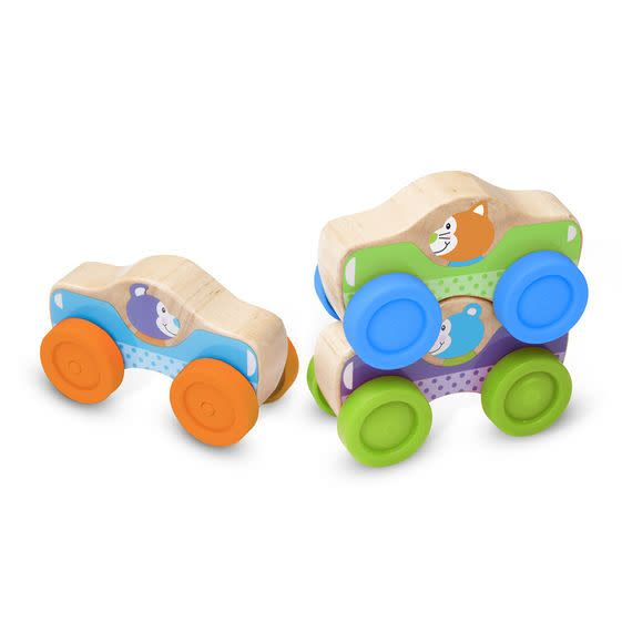 Melissa & Doug Voitures animaux empilables