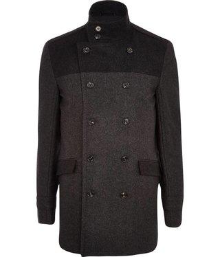 Deir James Bond Tuxedo check new long grey coat