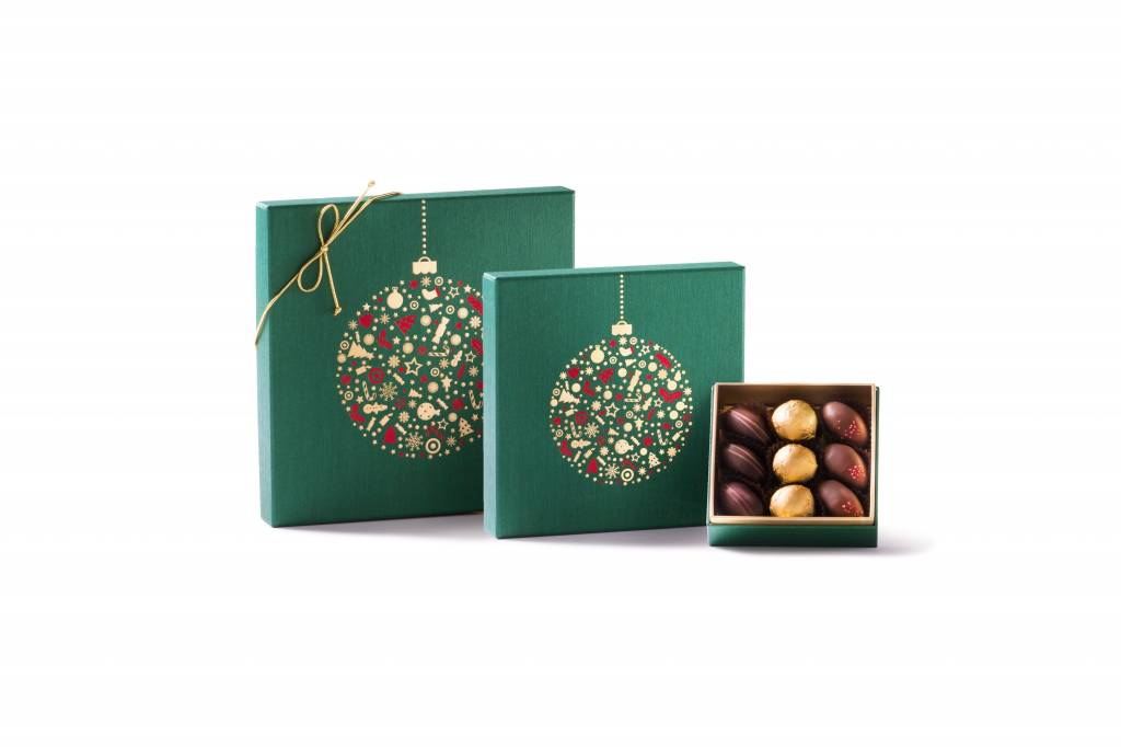 Bateel USA Green Holiday Ornament Gift Box