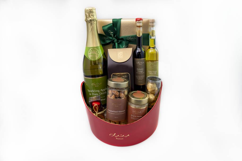 Bateel USA Ruby Red Gift Basket Gourmet Assortment (Small)