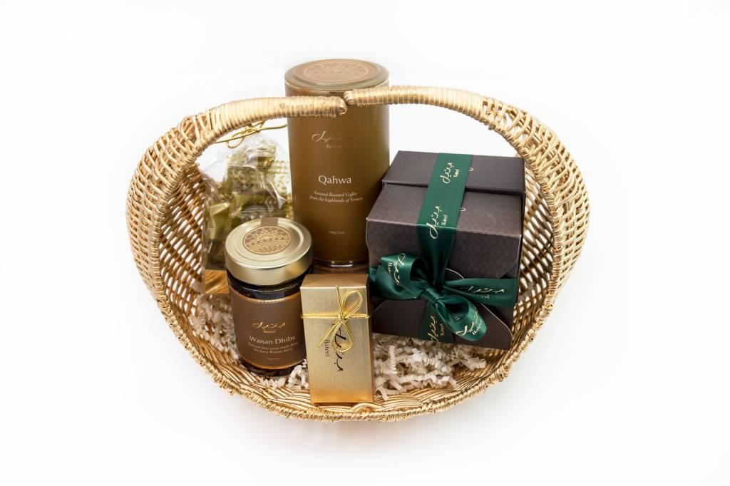 Bateel USA Fern Woven Gift Basket