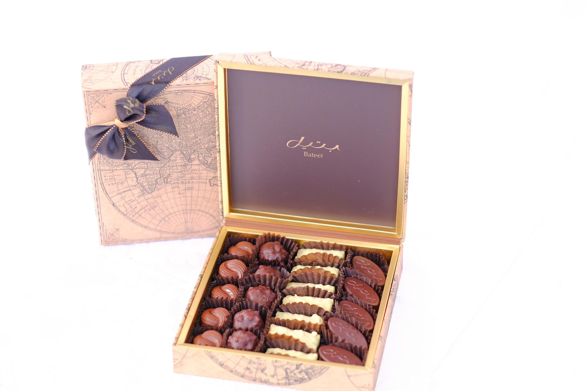 Bateel USA World Map Small Origin Chocolates Assortment