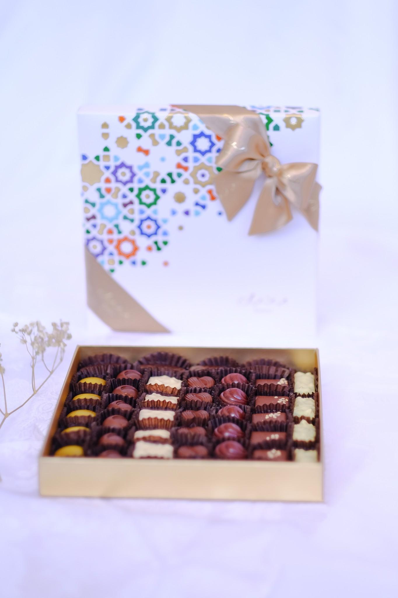 Bateel USA Arabesque M Single Layer Origin Chocolate Assortment