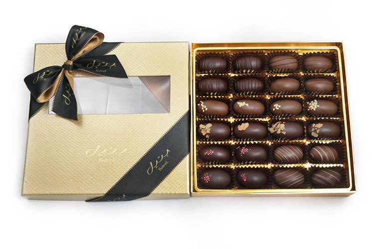 Bateel USA Black Gold Date Chocolates 24 Pieces