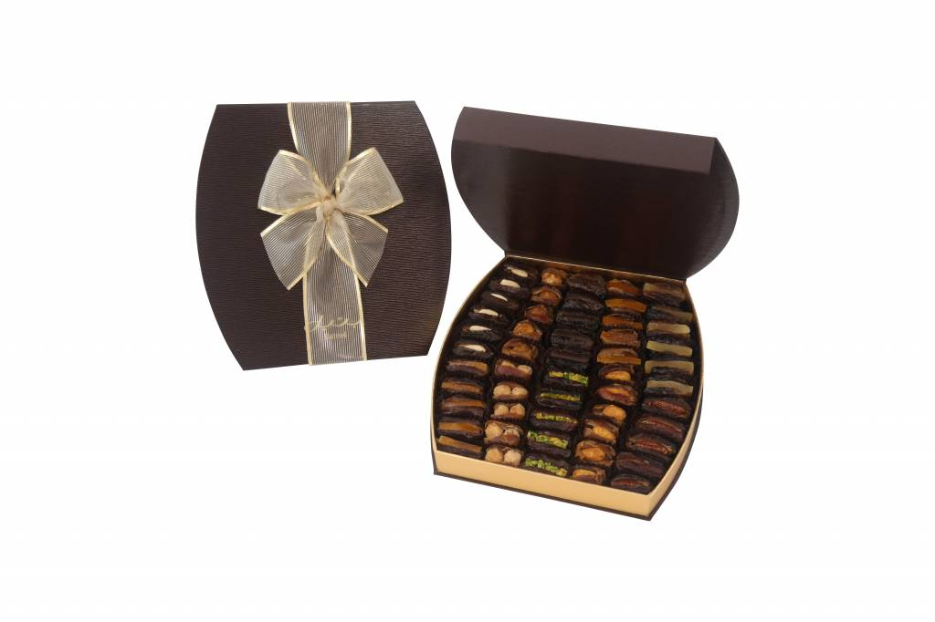 Bateel USA Barrel Brown Gift Box with Gourmet Dates