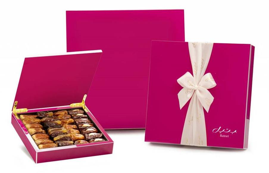 Bateel USA Pink Wood Gift Box
