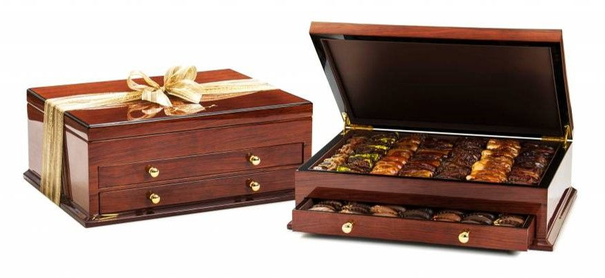 Bateel USA Wooden Chest of Drawers Gift Box