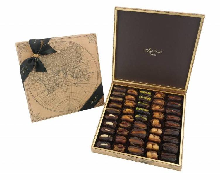 Bateel USA World Map Gift Box with Gourmet Dates